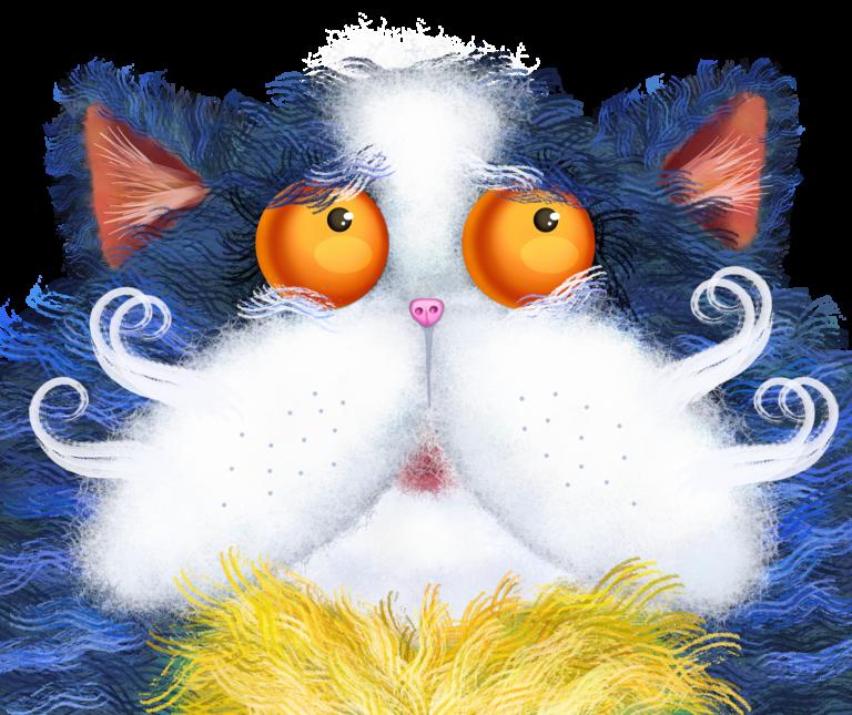 Fluffy Cat Portrait