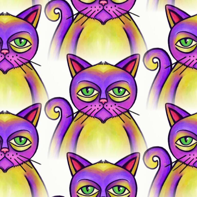 Seamless Moody Cats