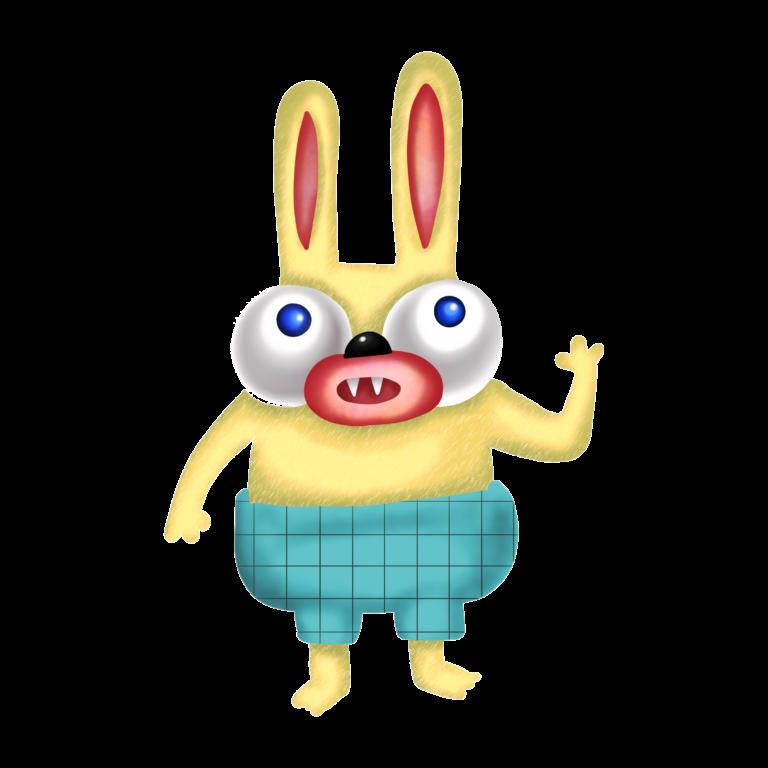 Crazy Rabbit Character
