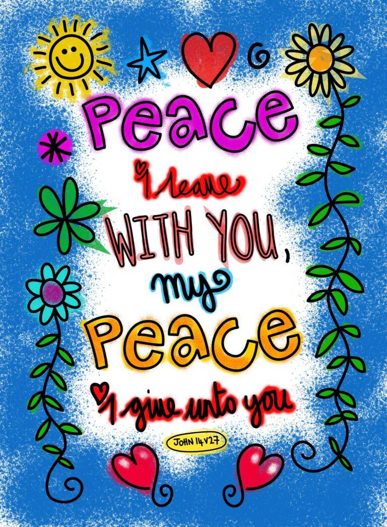 Peace Scripture Poster