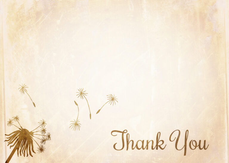 Grunge Thank You Note Paper